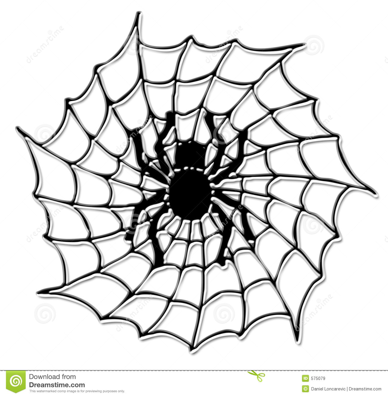 Halloween Spider On The Net Royalty Free Stock Images - Image: 575079