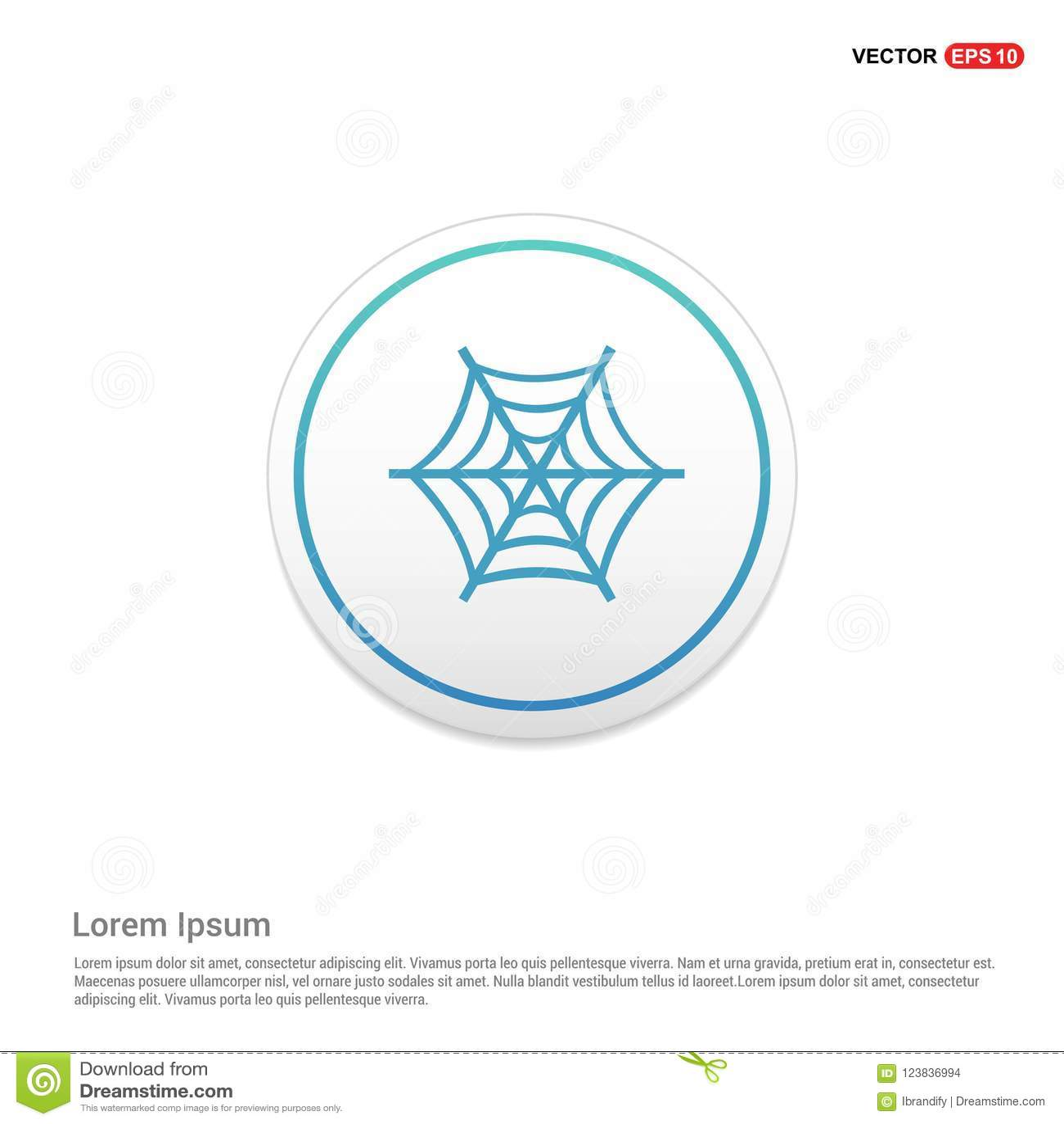 halloween spider web icon hexa white background icon template stock