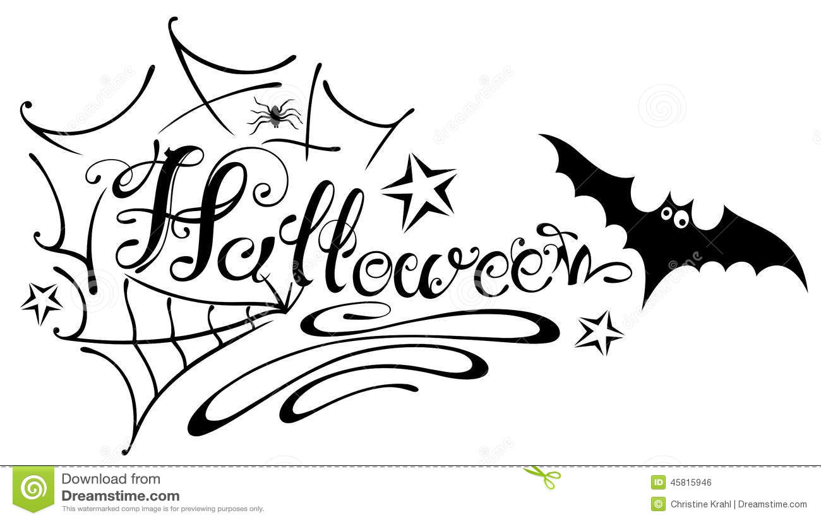 bat halloween lettering spider - Halloween Spider