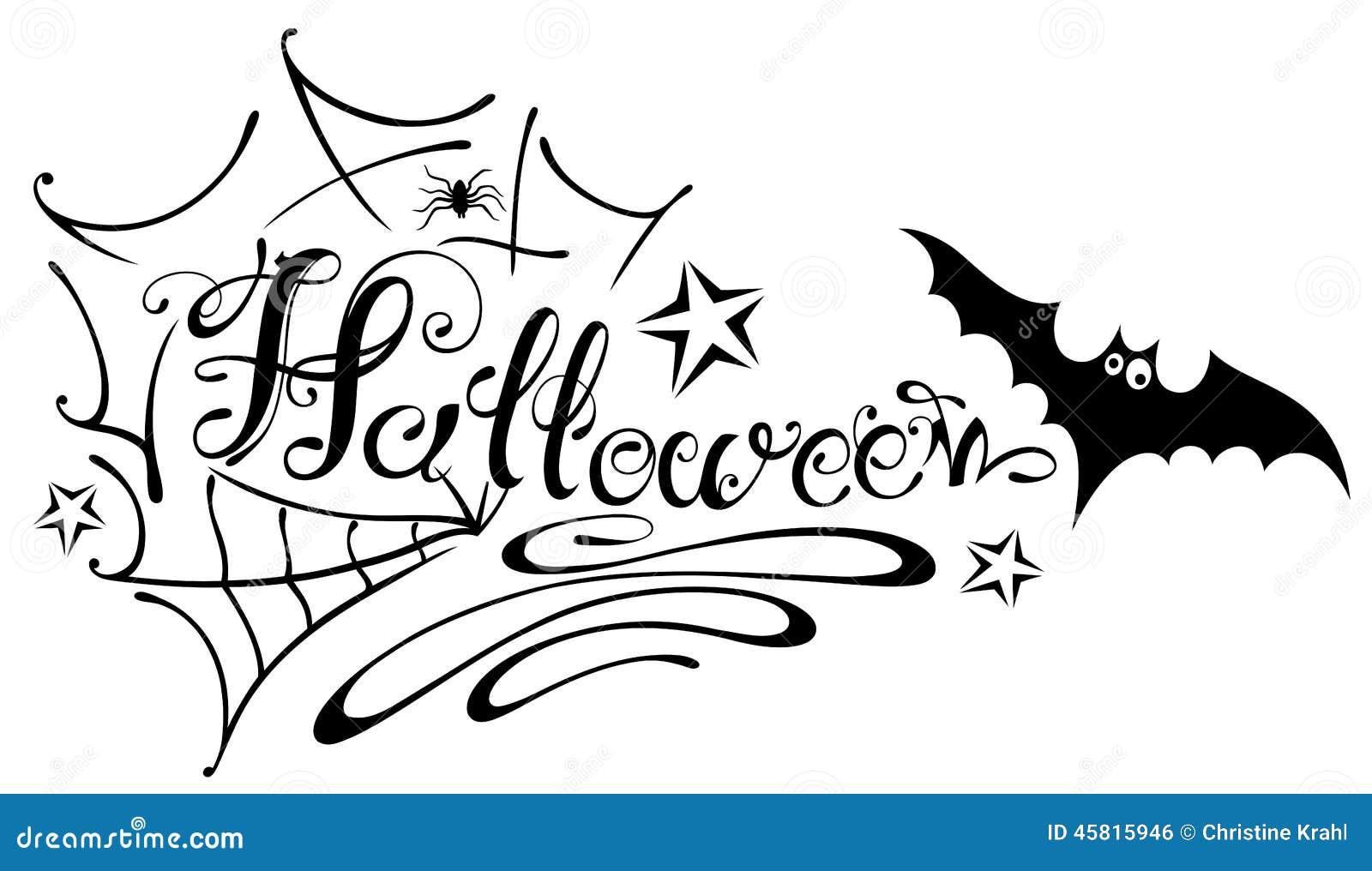 halloween, spider web stock vector. illustration of night - 45815946
