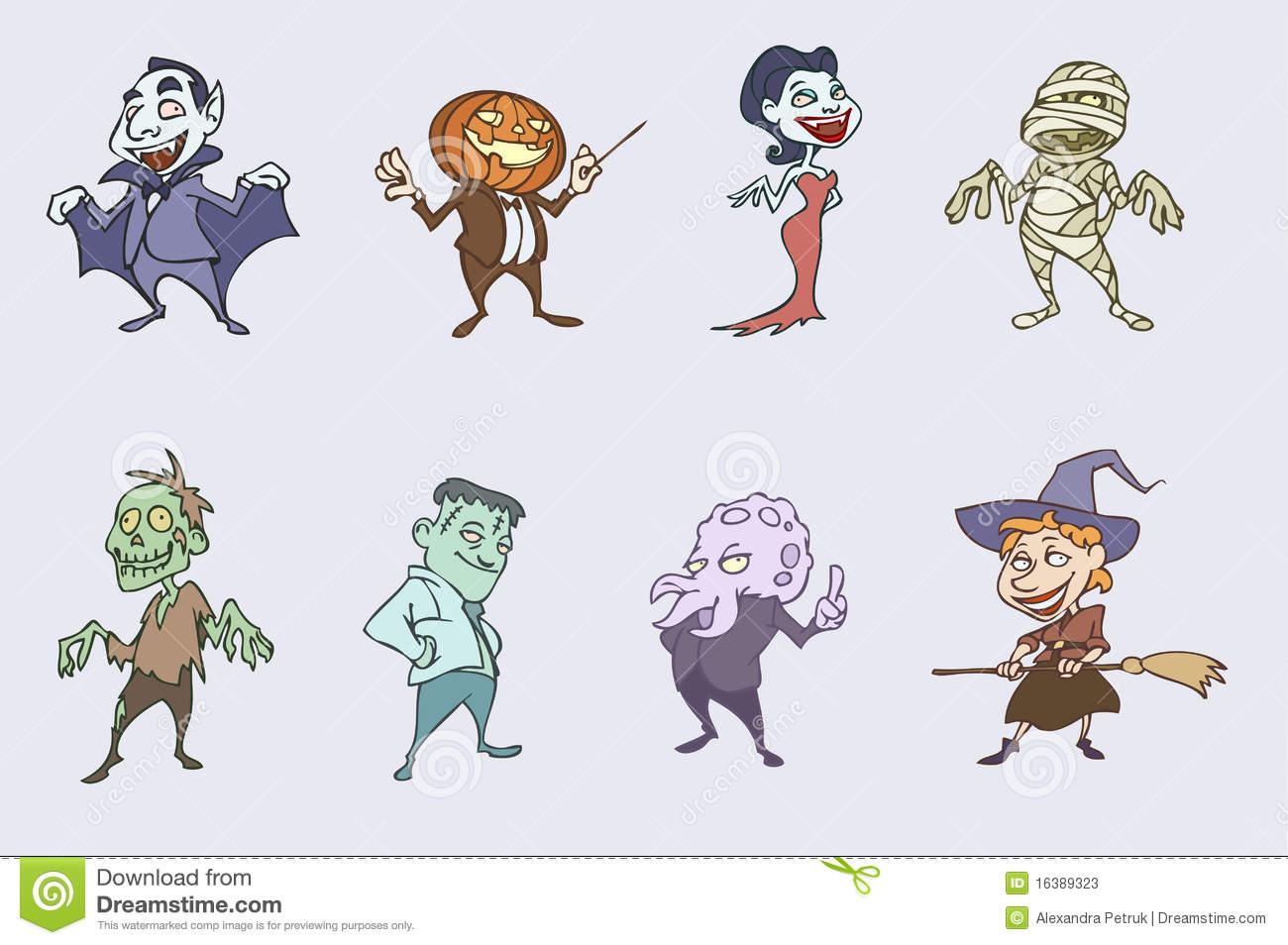 Halloween Spooky Characters Stock Photos - Image: 16389323