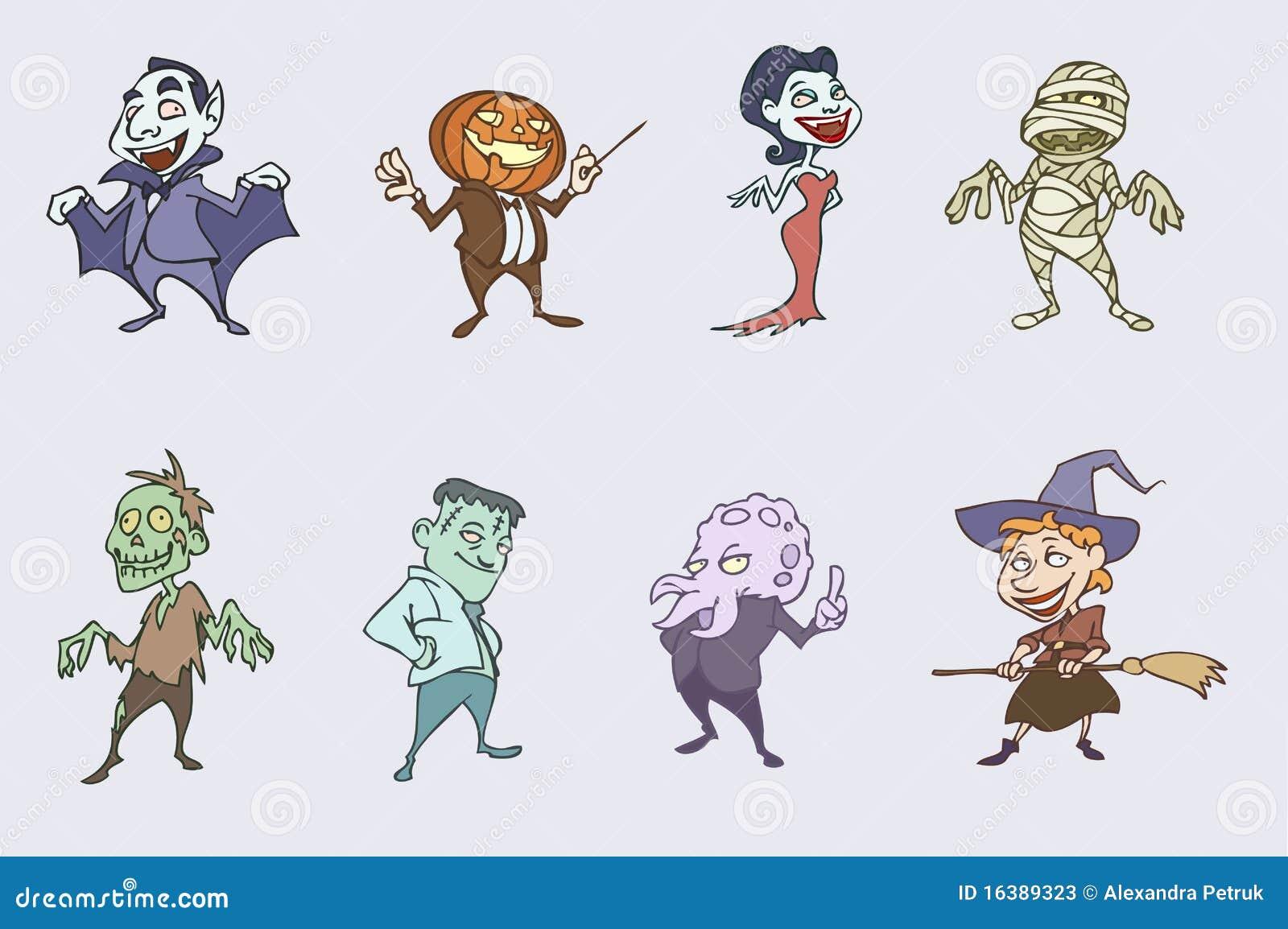 Halloween Spooky Characters Stock Photos - Image: 16389323