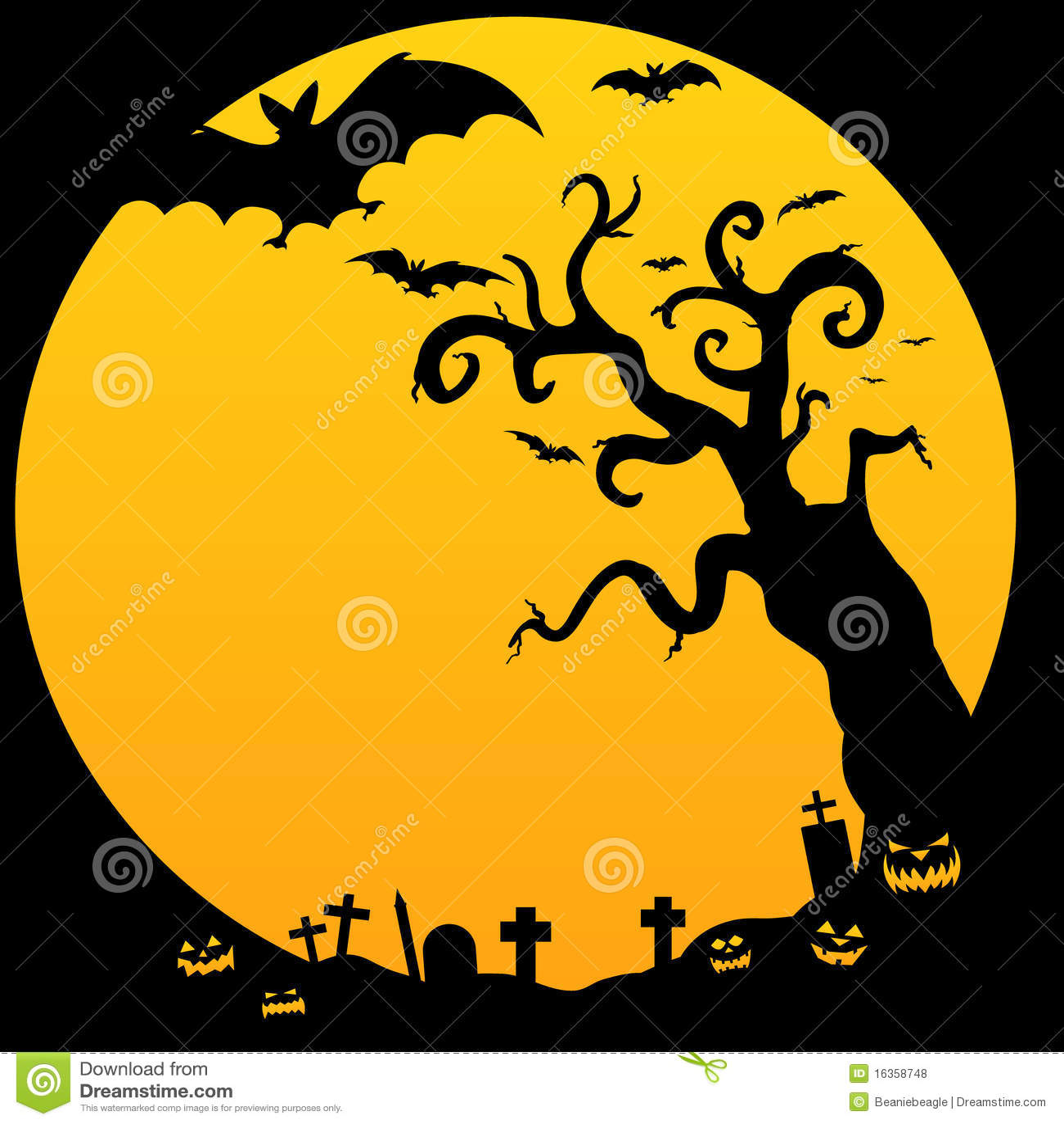 halloween spooky tree stock vector illustration of cross 16358748