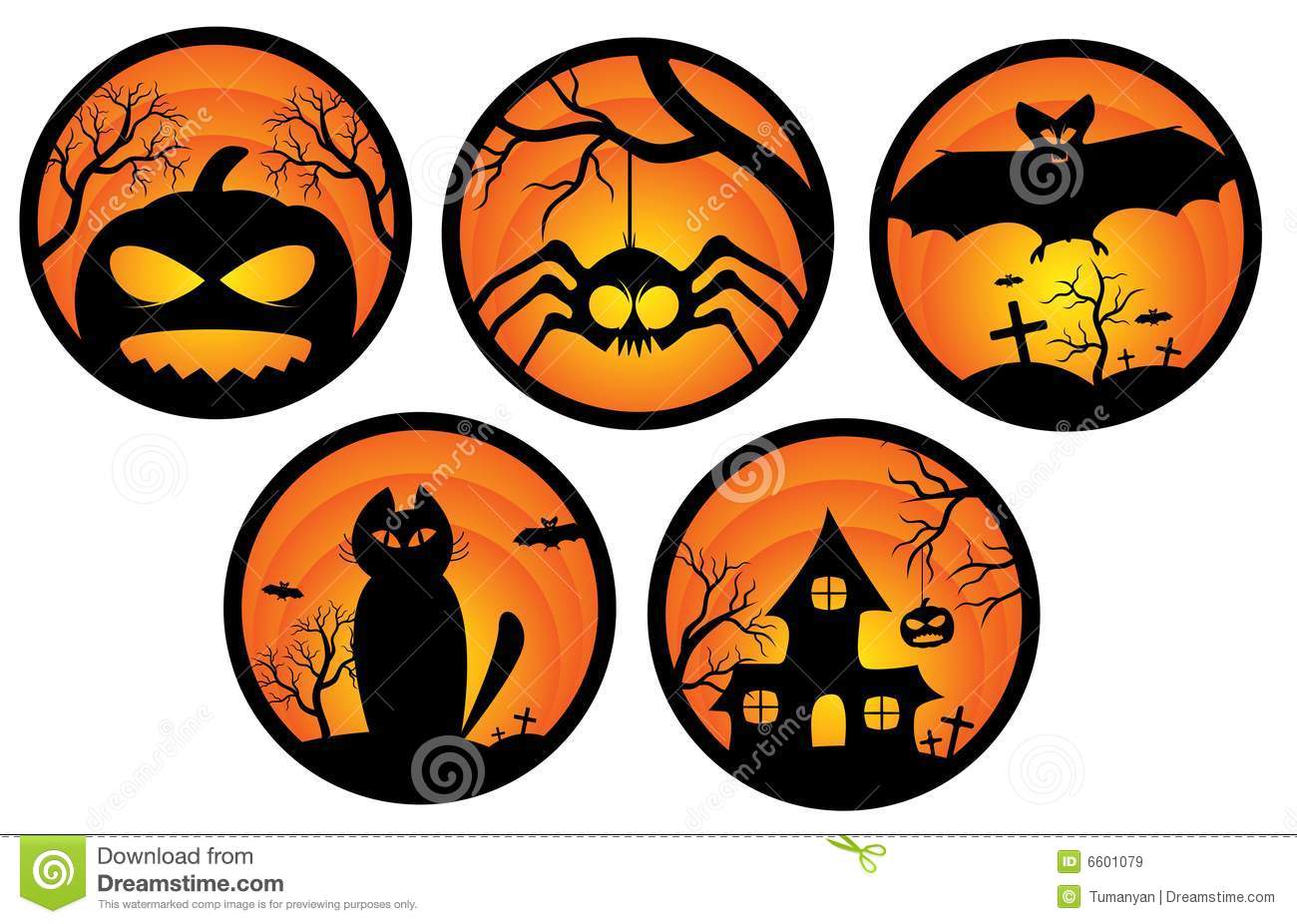 Halloween Stickers Illustration 6601079 - Megapixl