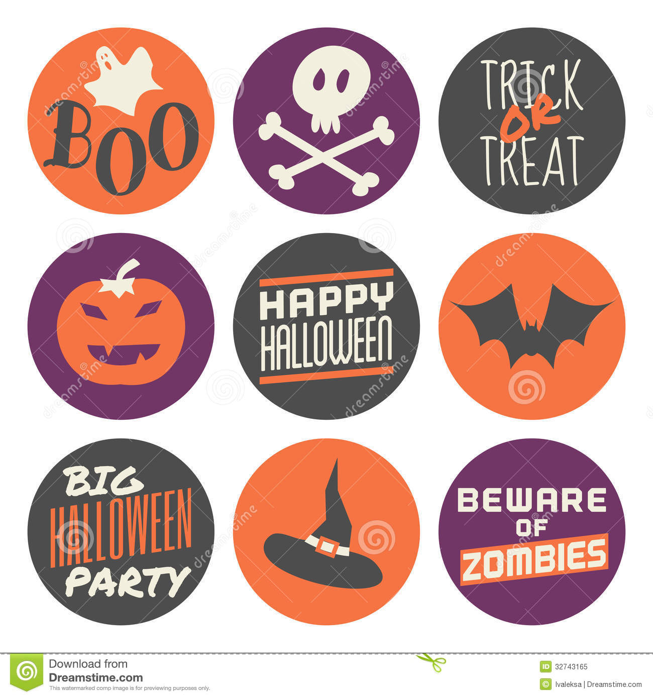 halloween stickers set - Download Halloween Pictures Free