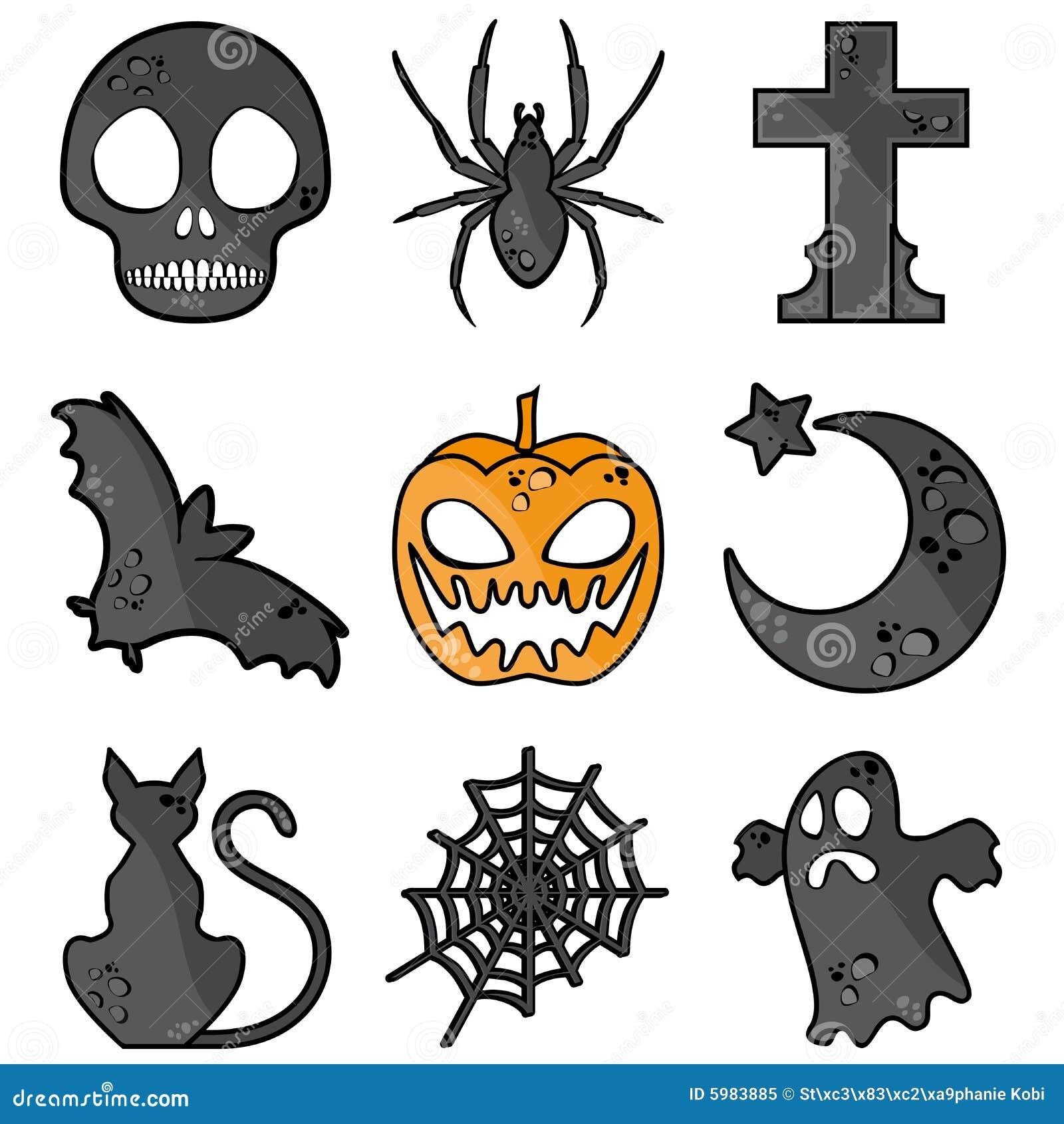 Halloween symbols stock vector. Illustration of cross - 5983885