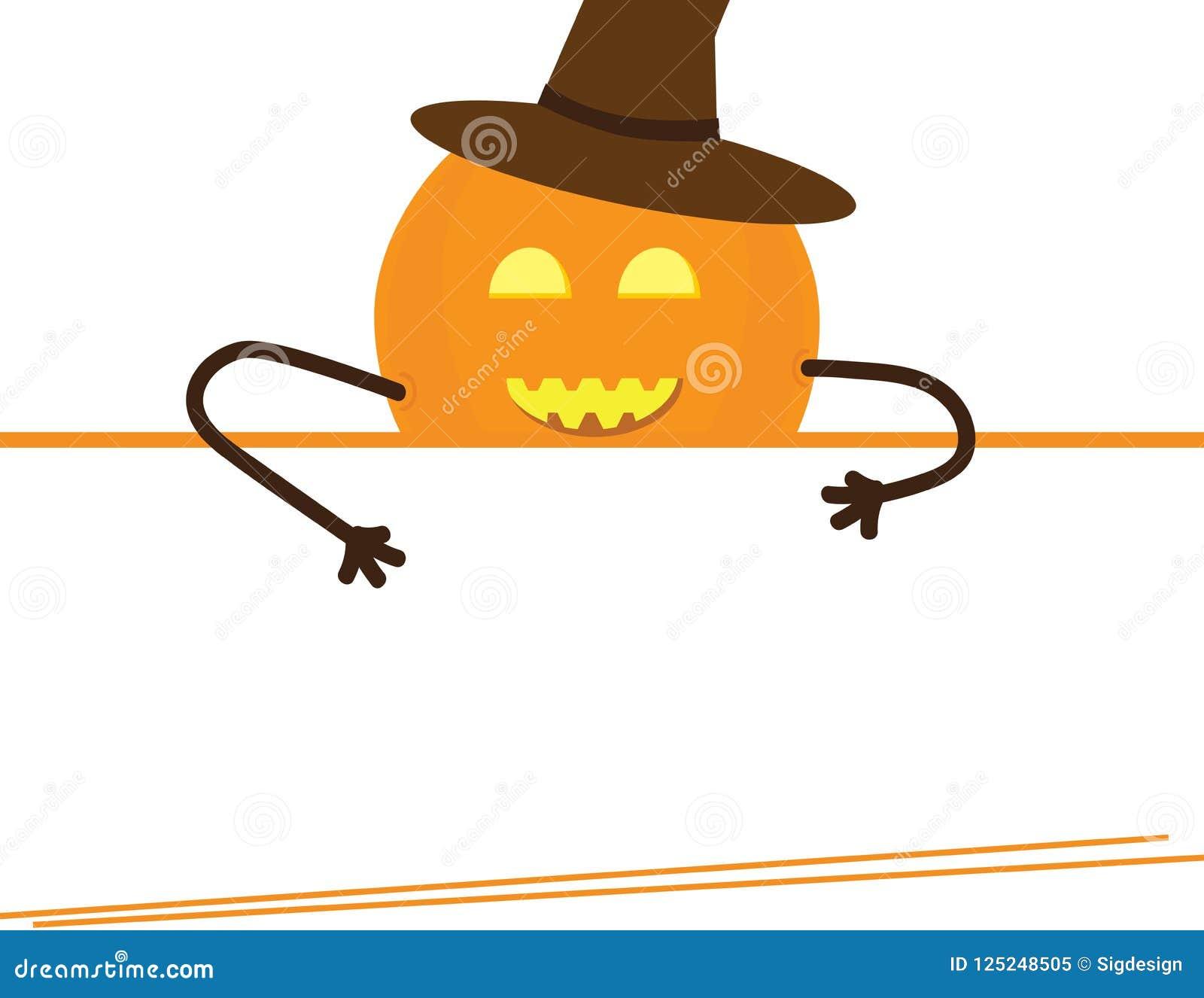 Halloween Template Pumpkin Witch Hat Stock Vector Illustration Of Autumn Halloween 125248505