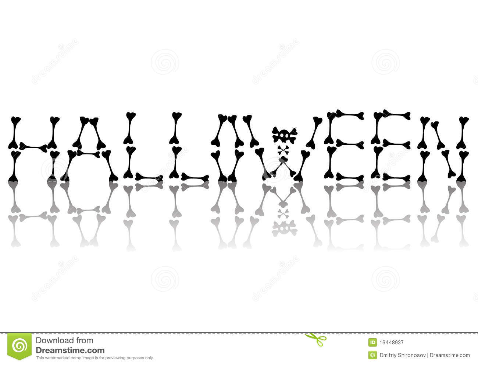 Halloween Text Of Bones Stock Illustration Image Of
