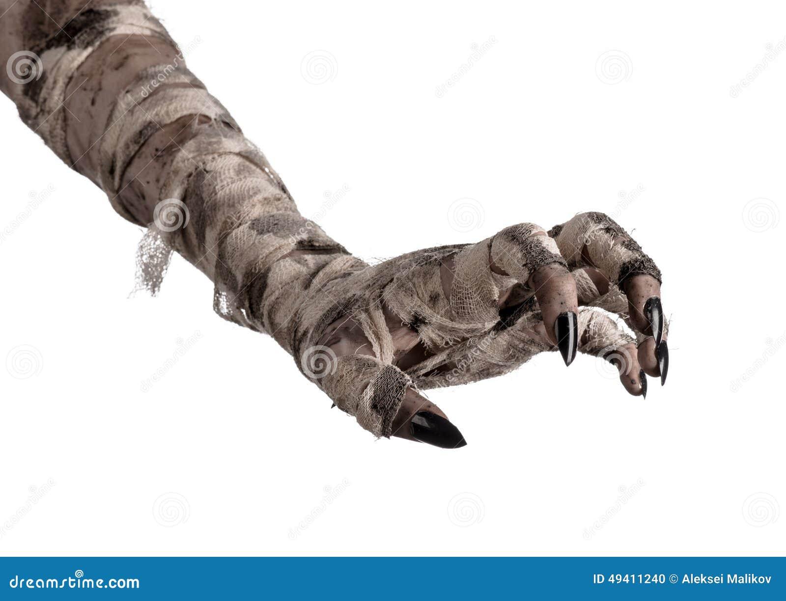Download Halloween-Thema: Schreckliche Alte Mamahände Auf Einem Weißen Hintergrund Stockfoto - Bild von nana, dämon: 49411240