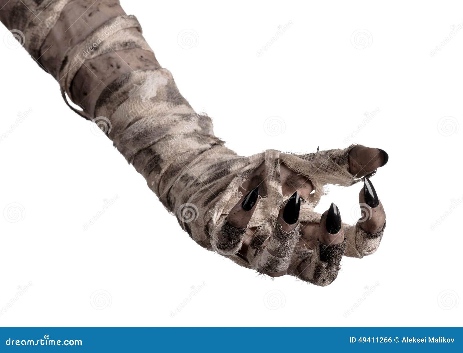Download Halloween-Thema: Schreckliche Alte Mamahände Auf Einem Weißen Hintergrund Stockfoto - Bild von mama, furcht: 49411266