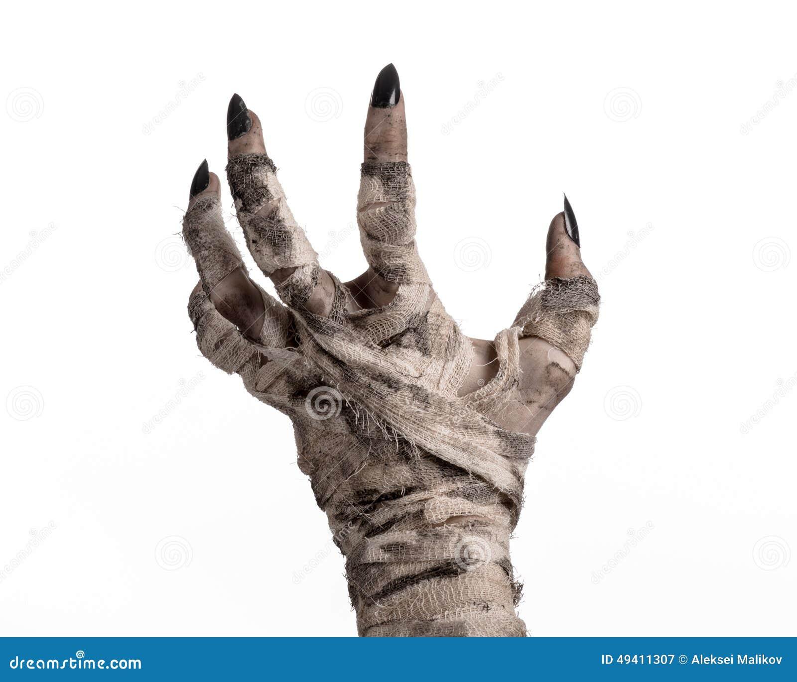 Download Halloween-Thema: Schreckliche Alte Mamahände Auf Einem Weißen Hintergrund Stockbild - Bild von mystiker, übel: 49411307