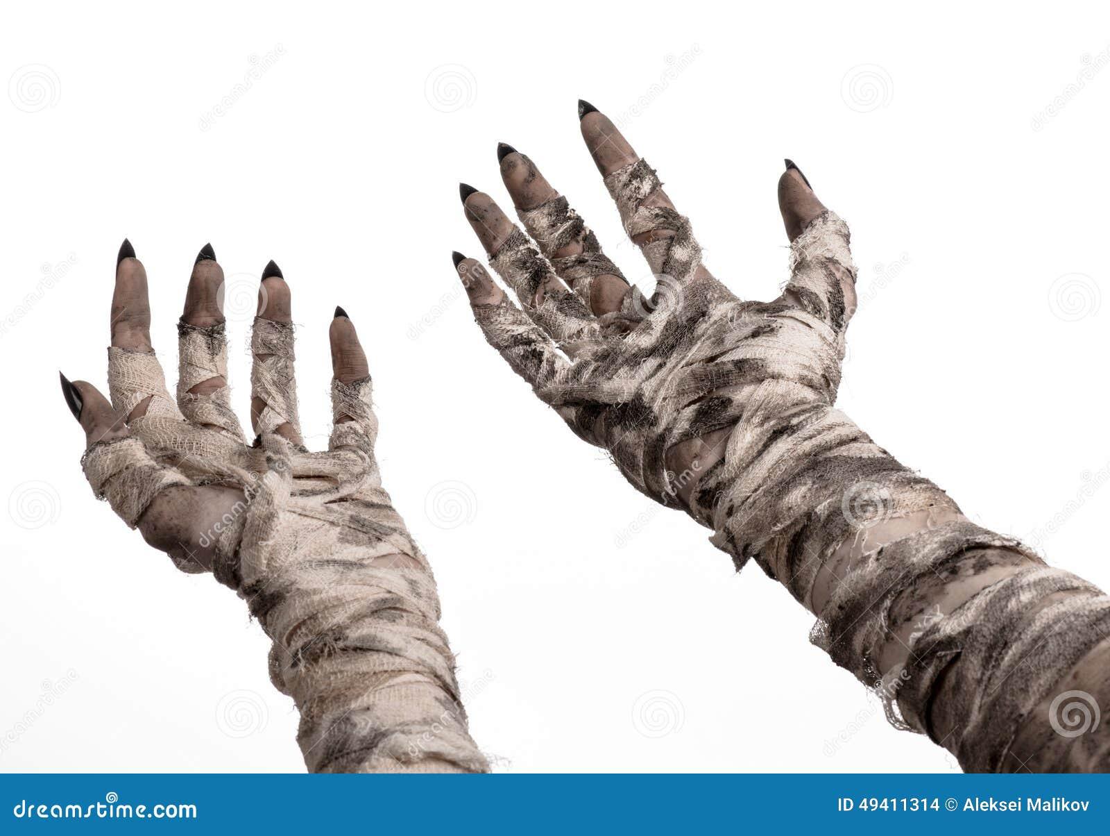 Download Halloween-Thema: Schreckliche Alte Mamahände Auf Einem Weißen Hintergrund Stockfoto - Bild von apocalypse, mama: 49411314