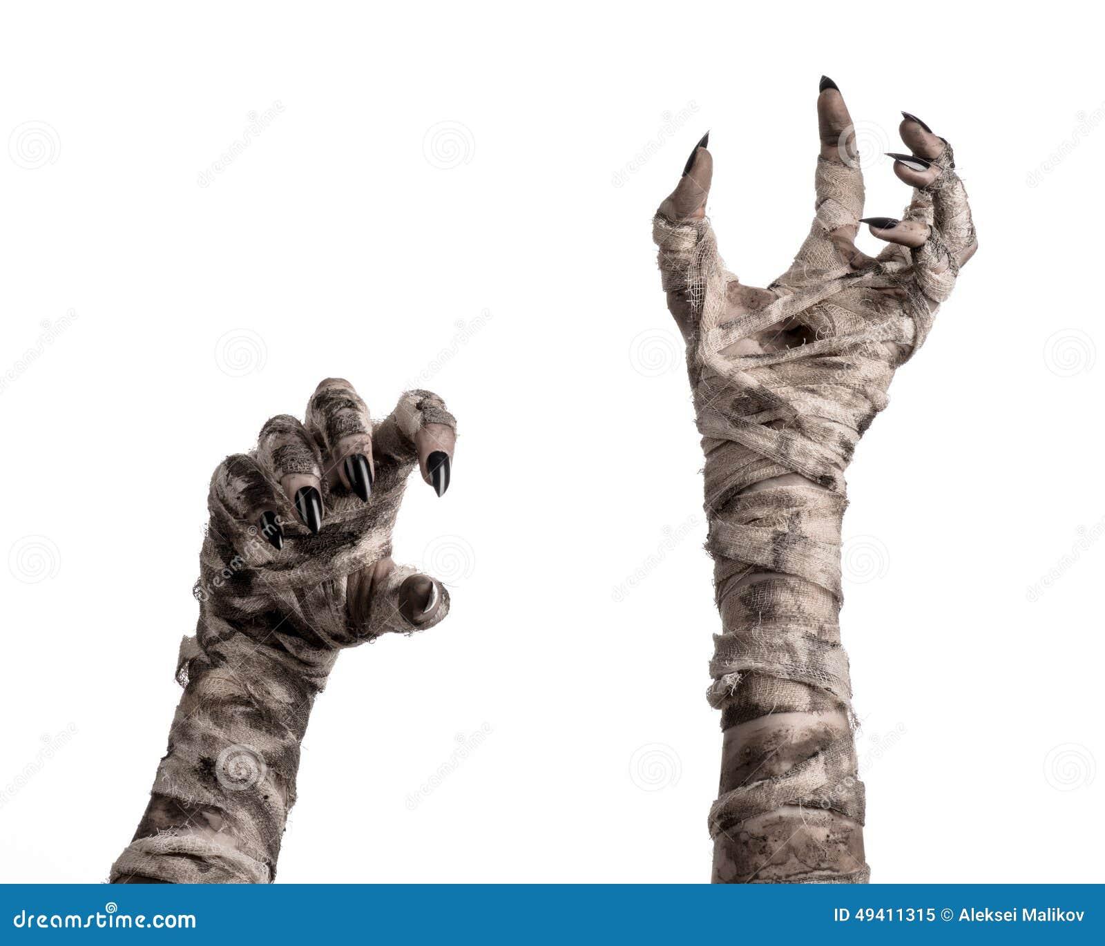 Download Halloween-Thema: Schreckliche Alte Mamahände Auf Einem Weißen Hintergrund Stockbild - Bild von creepy, nana: 49411315