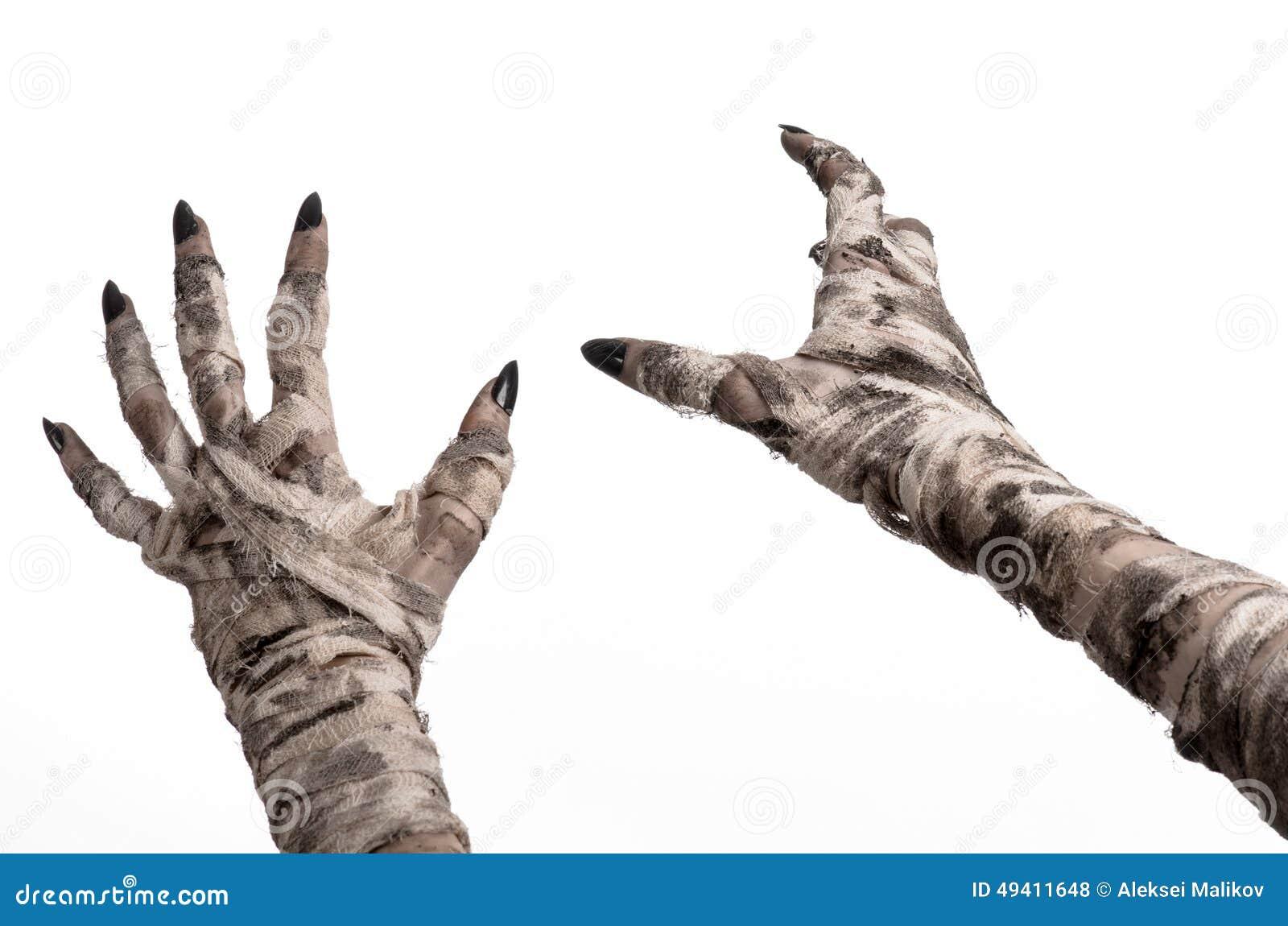Download Halloween-Thema: Schreckliche Alte Mamahände Auf Einem Weißen Hintergrund Stockfoto - Bild von grausigkeit, kostüm: 49411648