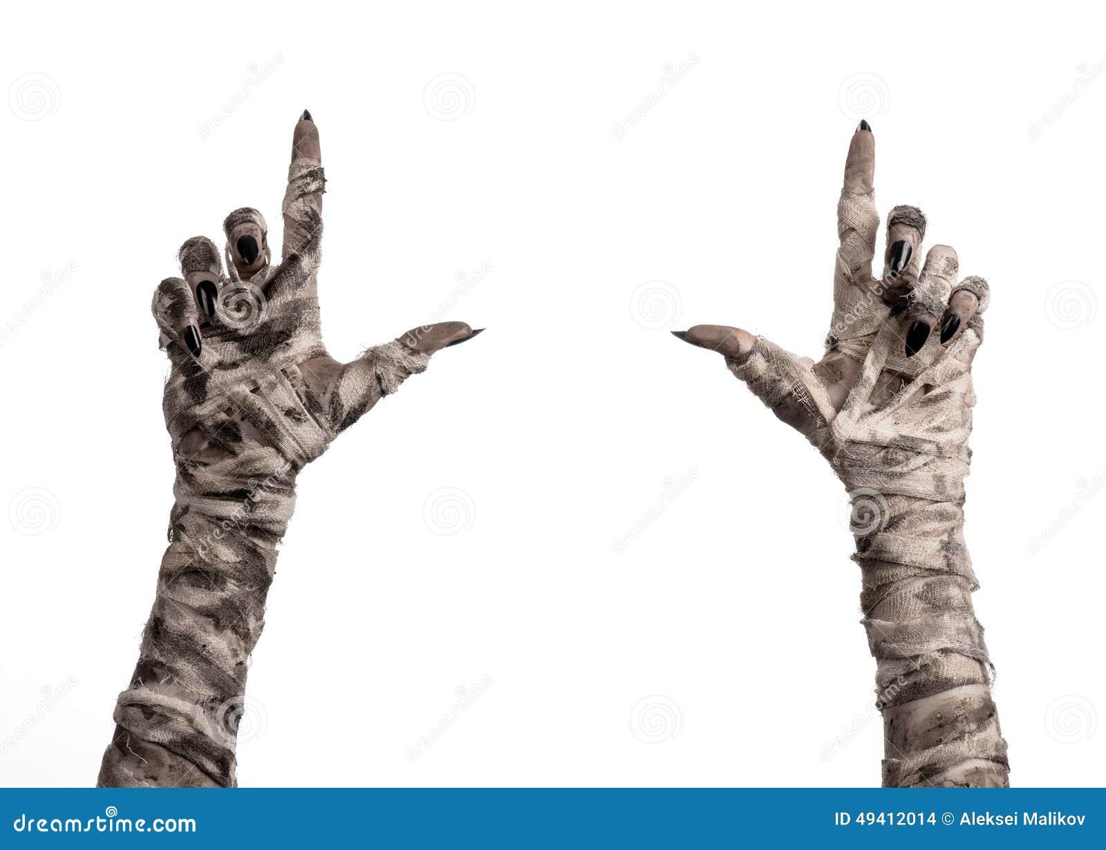 Download Halloween-Thema: Schreckliche Alte Mamahände Auf Einem Weißen Hintergrund Stockfoto - Bild von hintergrund, finger: 49412014