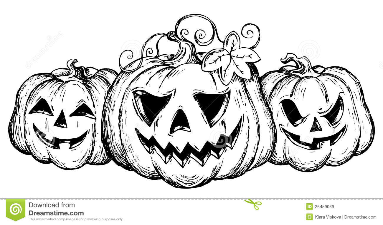 Halloween theme drawing 2 royalty free stock images Awesome pumpkin drawings