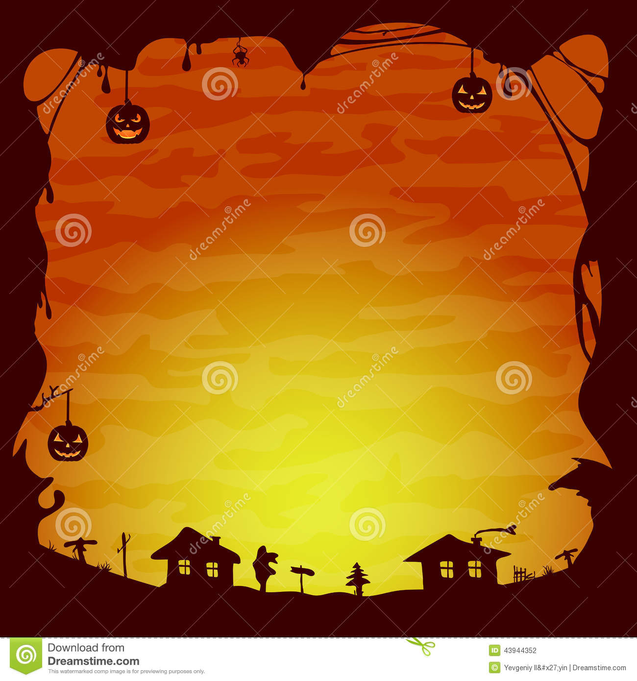 halloween theme stock vector illustration of design 43944352