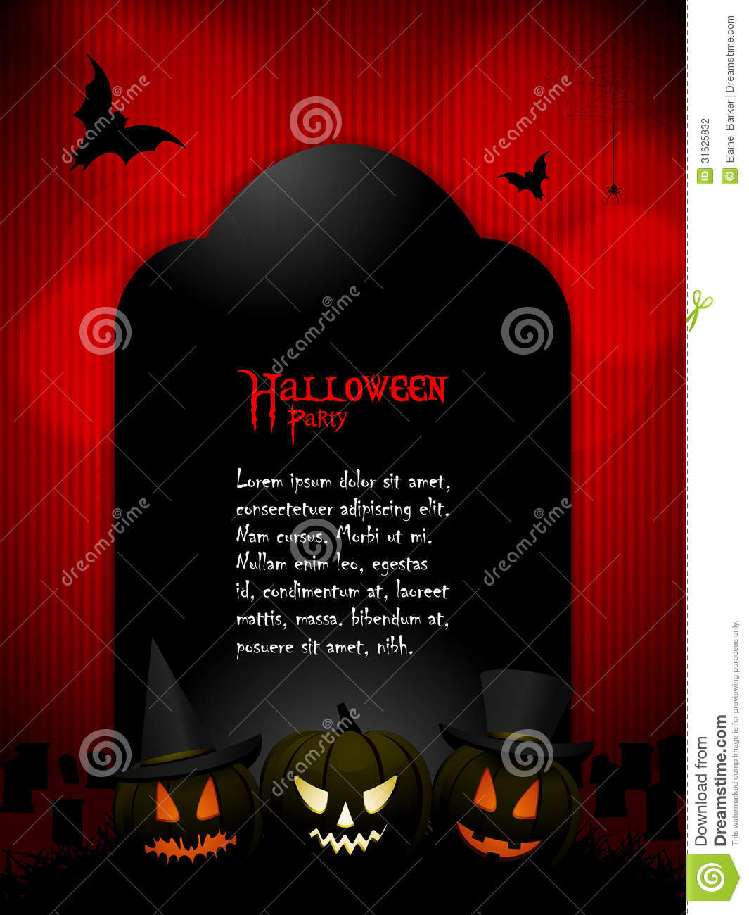 Halloween Tombstone With Sample Text Stock Photography - Image ...