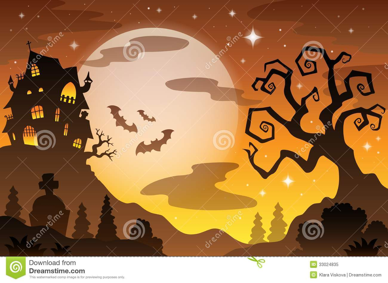 Halloween topic background 2 - eps10 vector illustration.