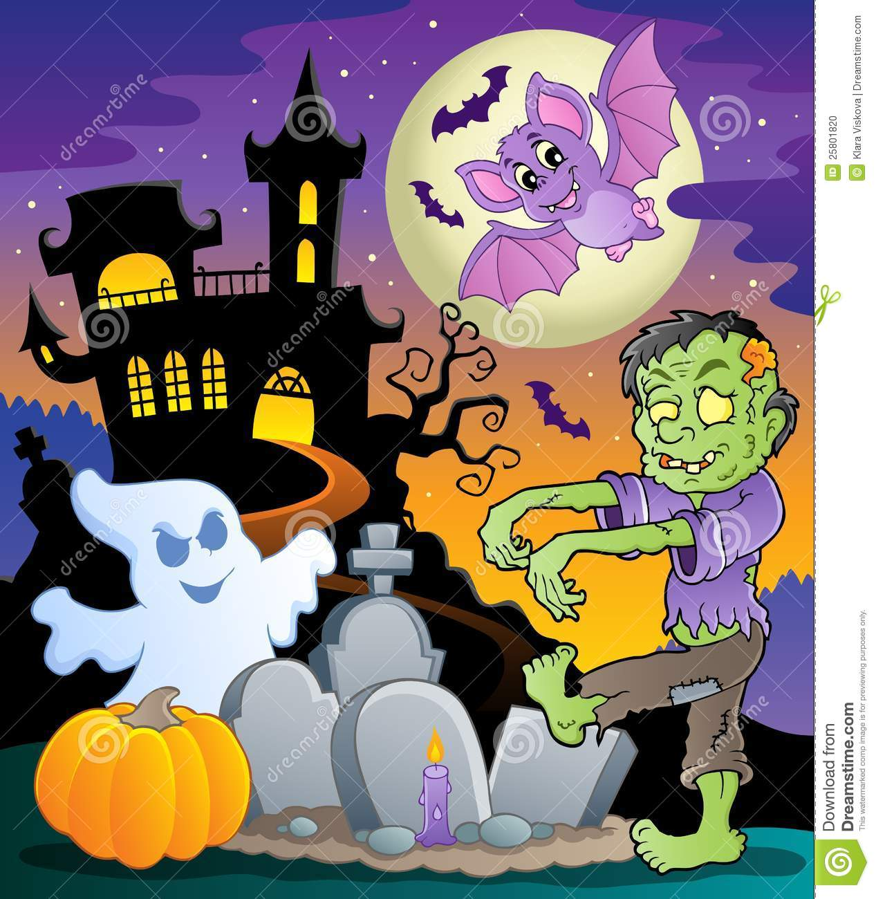 Halloween topic scene 1
