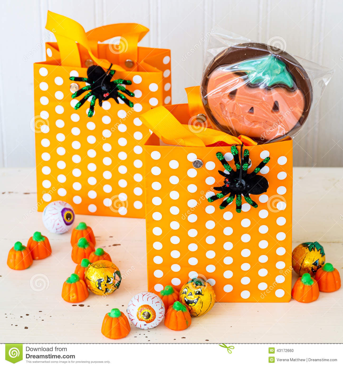 halloween treat bags stock photo. image of candy, inside - 43172660