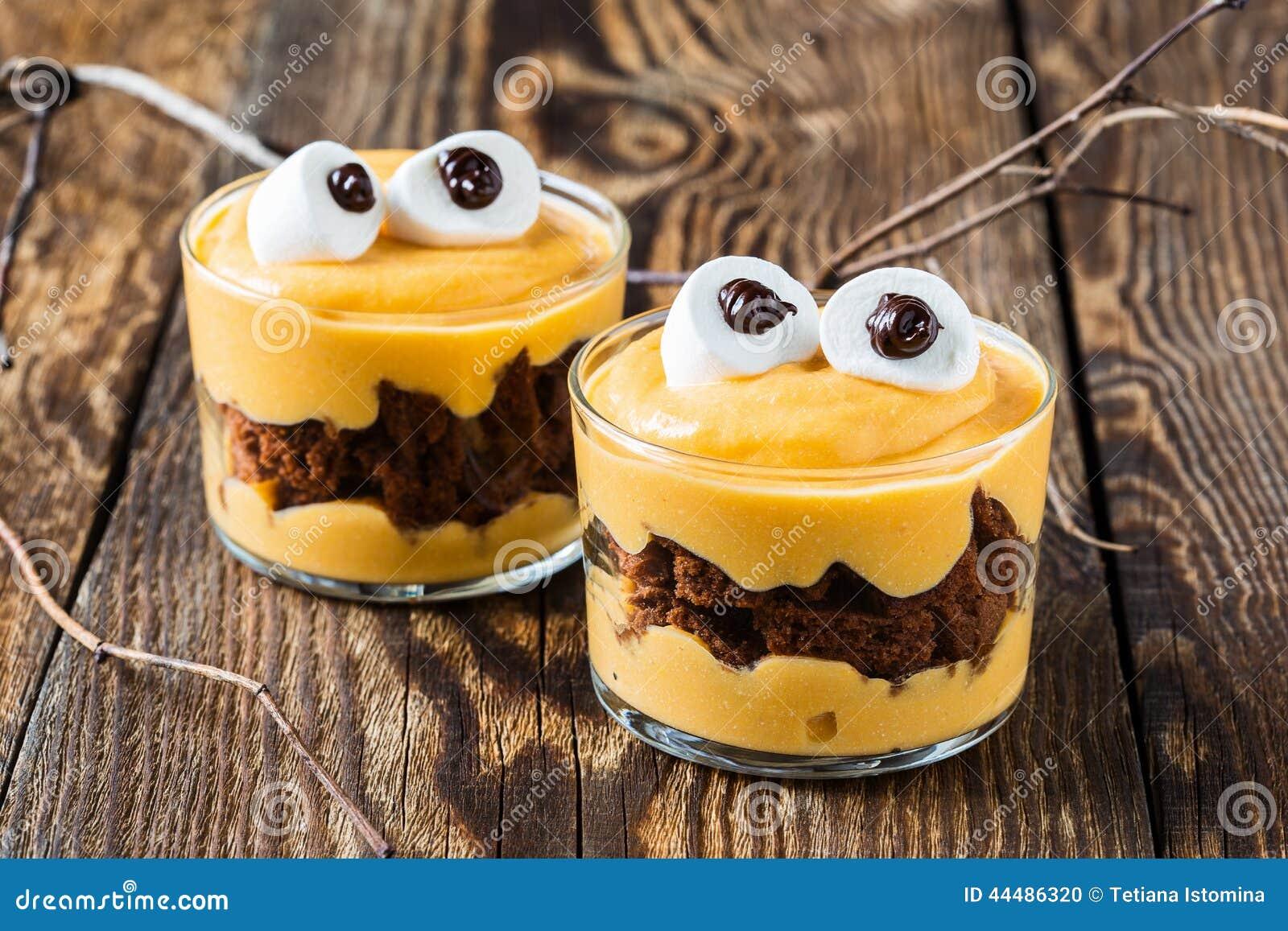 Halloween Treats Little Monster Dessert Stock Photo Image