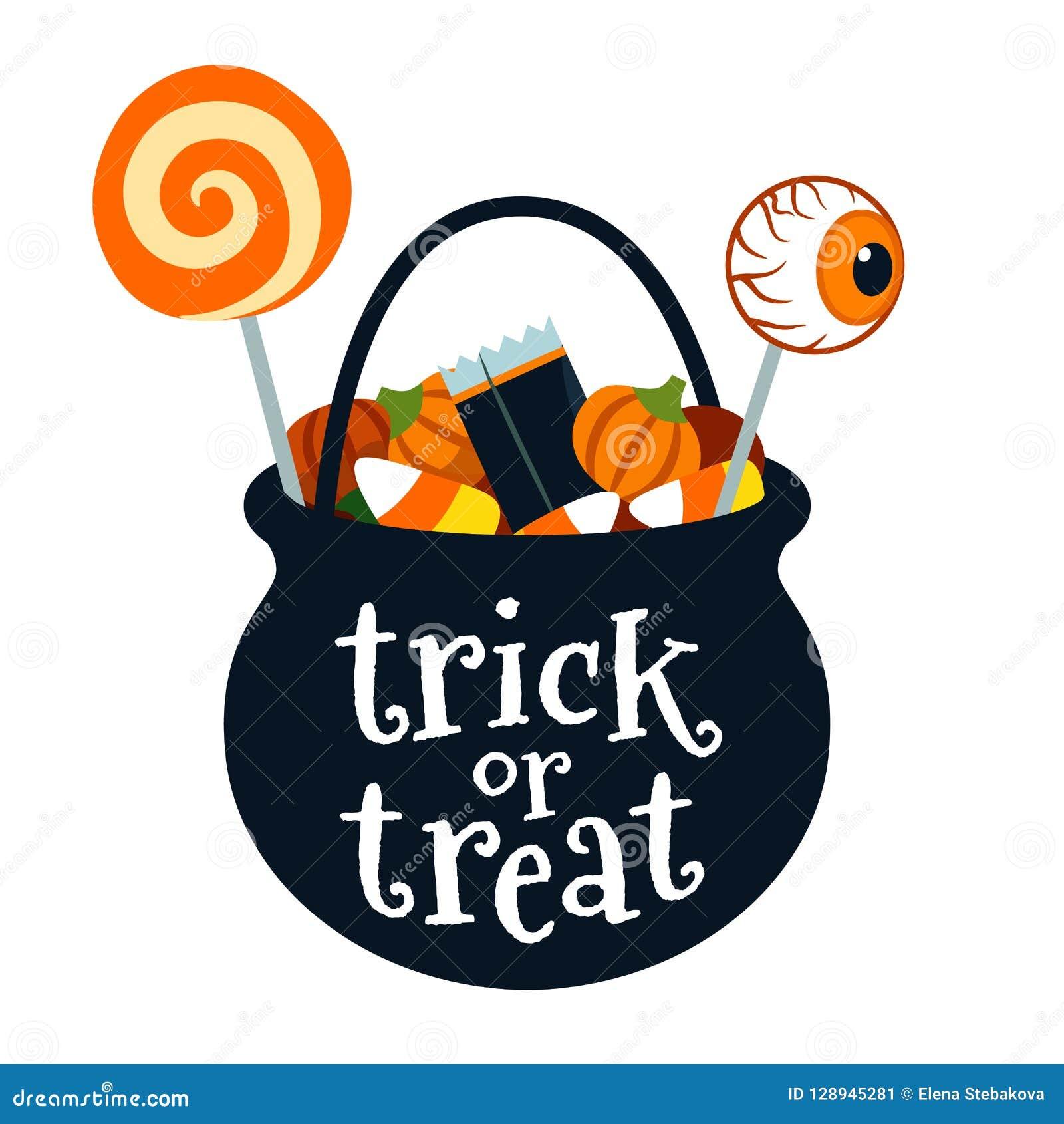 Halloween Black Candy Cauldrons