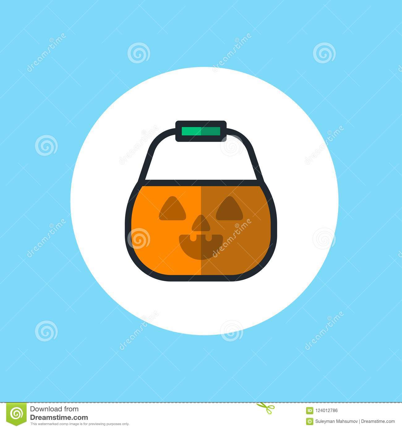 download halloween basket vector icon sign stock vector illustration of autumn bunch 124012786
