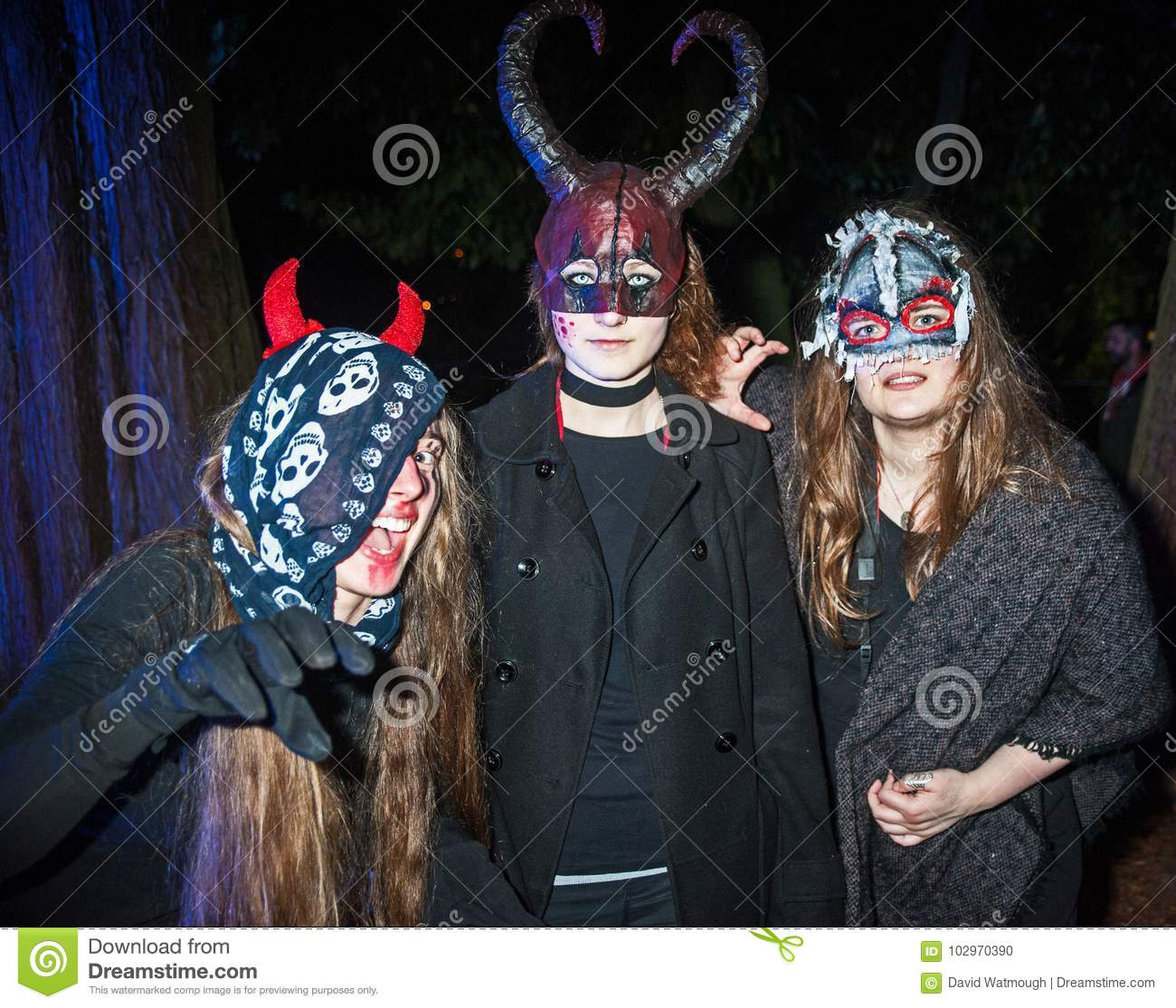 Halloween trio scare the audience