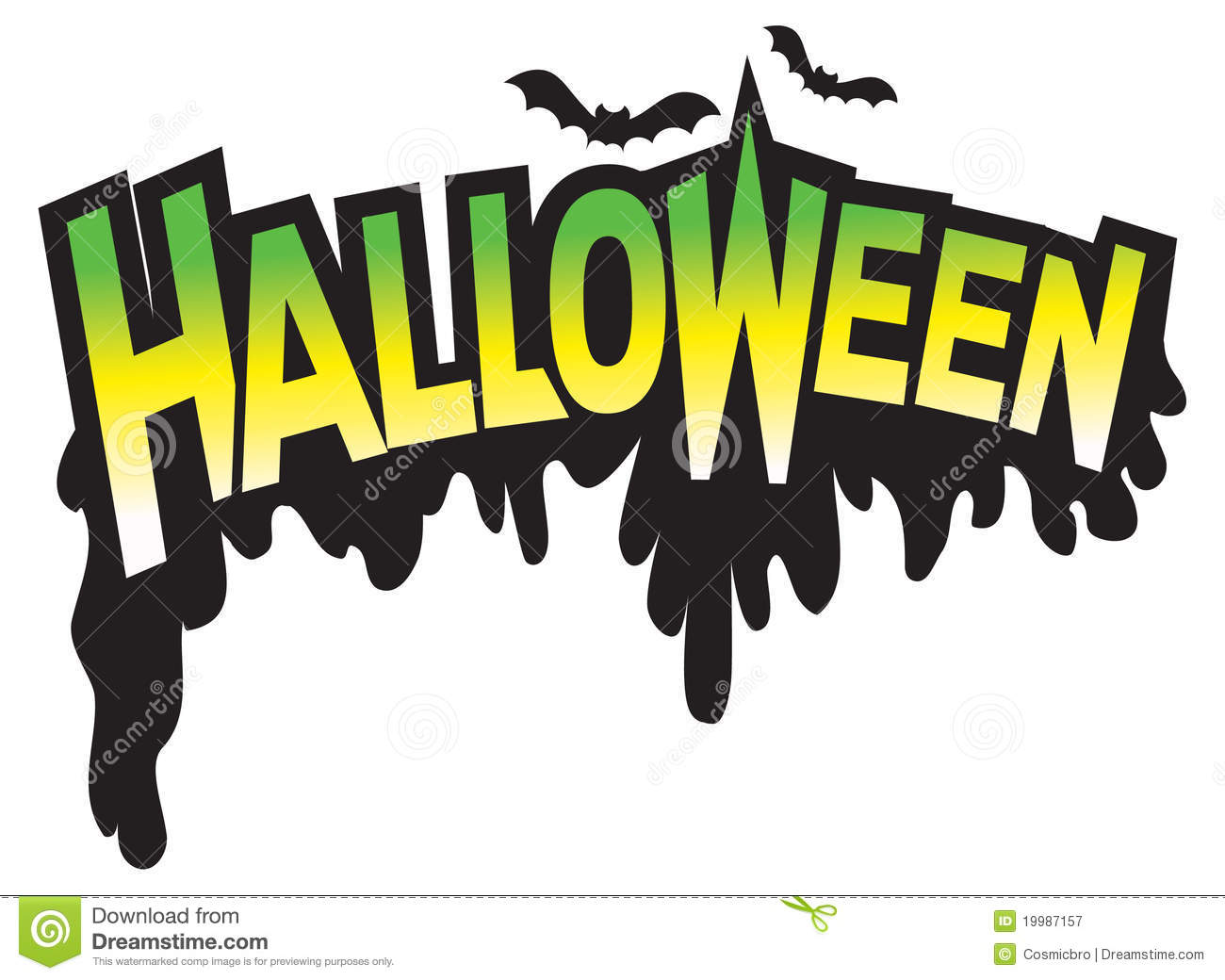Halloween Type Graphic Logo Royalty Free Stock Photography - Image ...
