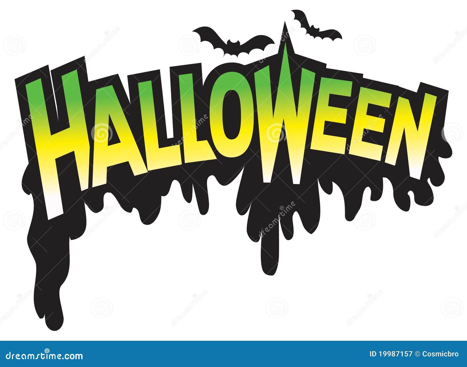 halloween type graphic logo stock vector illustration of type  illustration 19987157 halloween signage vector Halloween Stencils