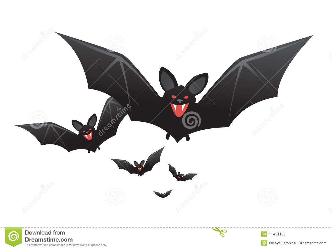halloween vampire bats with fangs royalty free stock images
