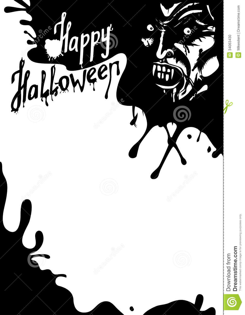 halloween vampire greeting card stock vector illustration of creepy blank 34063430. Black Bedroom Furniture Sets. Home Design Ideas