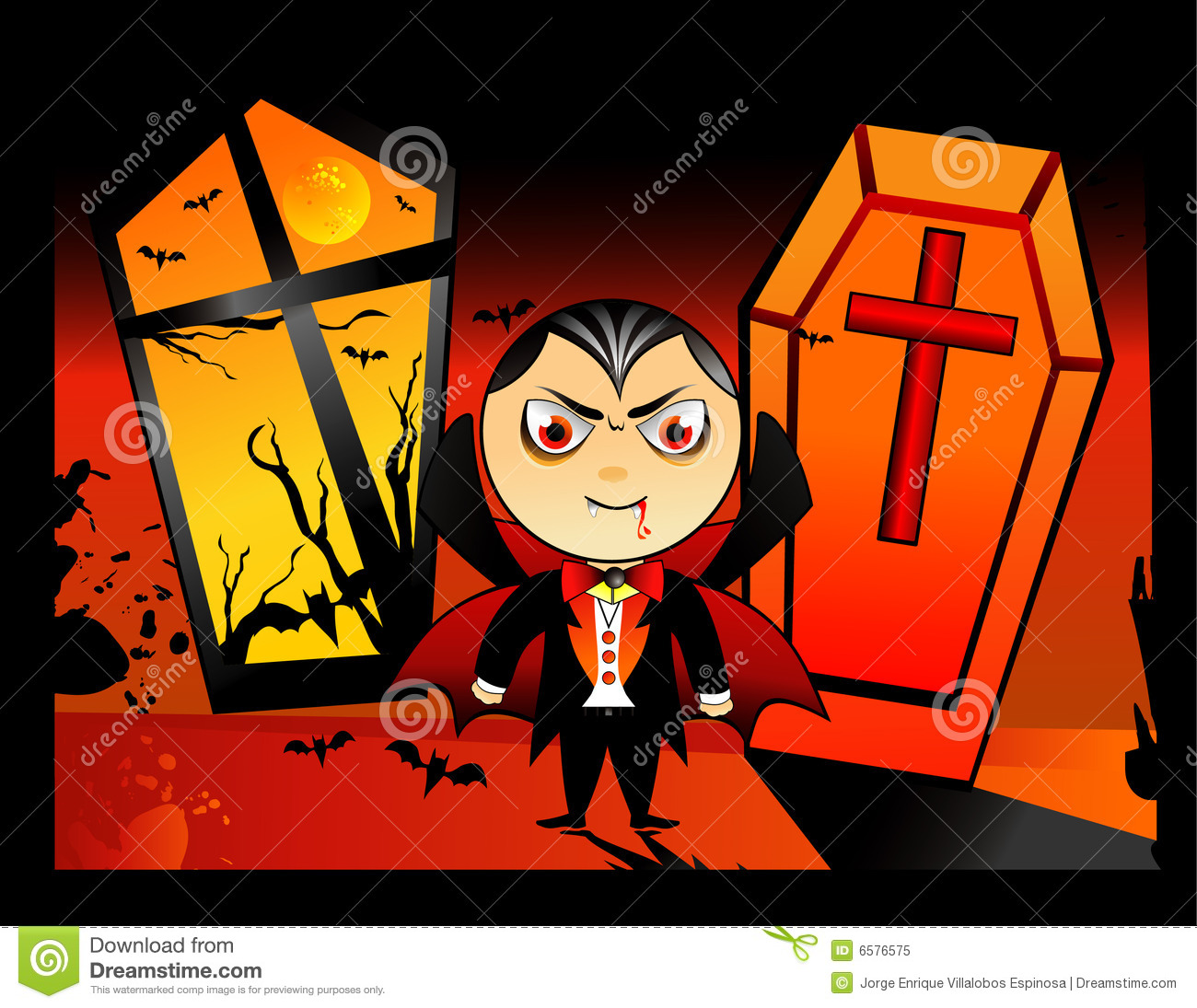 halloween vampire vector royalty free stock photo image 6576575. Black Bedroom Furniture Sets. Home Design Ideas
