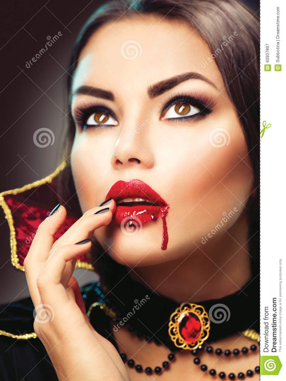 halloween vampire woman portrait beauty vampire stock photo image 60937897. Black Bedroom Furniture Sets. Home Design Ideas