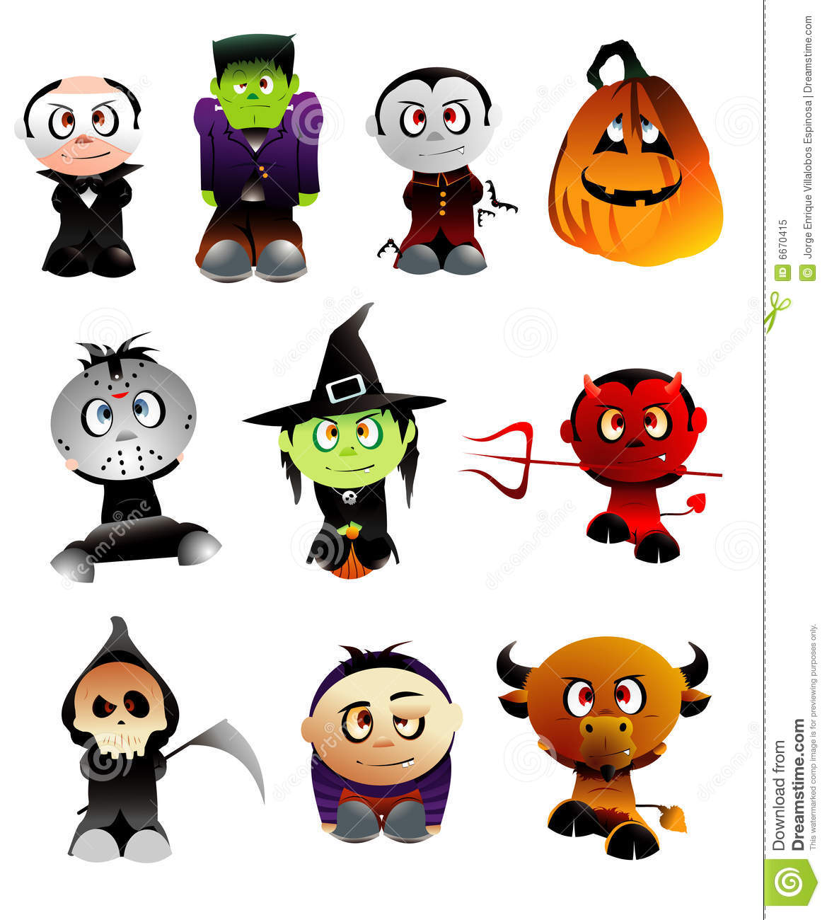 Halloween Vector Characters Royalty Free Stock Photo - Image: 6670415