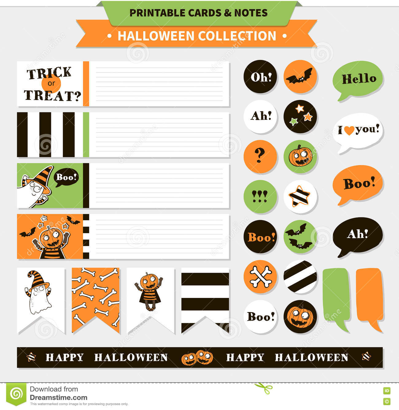 photo relating to Printable Halloween Banners titled Halloween Vector Printable Fastened. Inventory Vector - Example