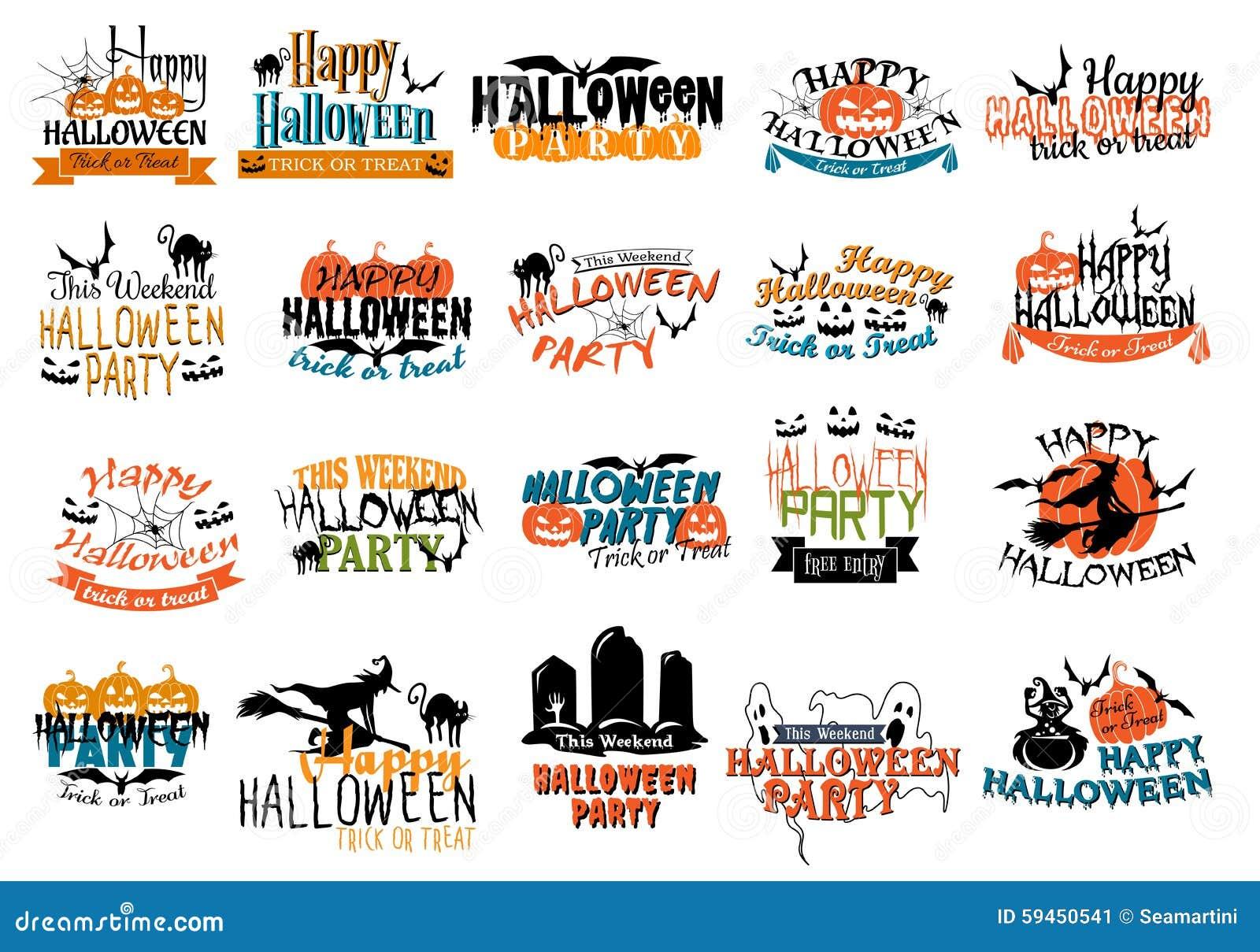 Halloween-verschrikking en angstaanjagende banners