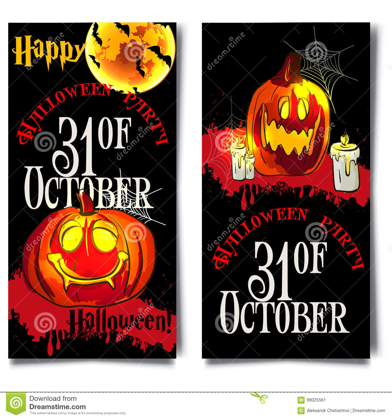 Halloween Vertical Background With Pumpkin Flyer Or Invitation Template For Party Vector Illustration