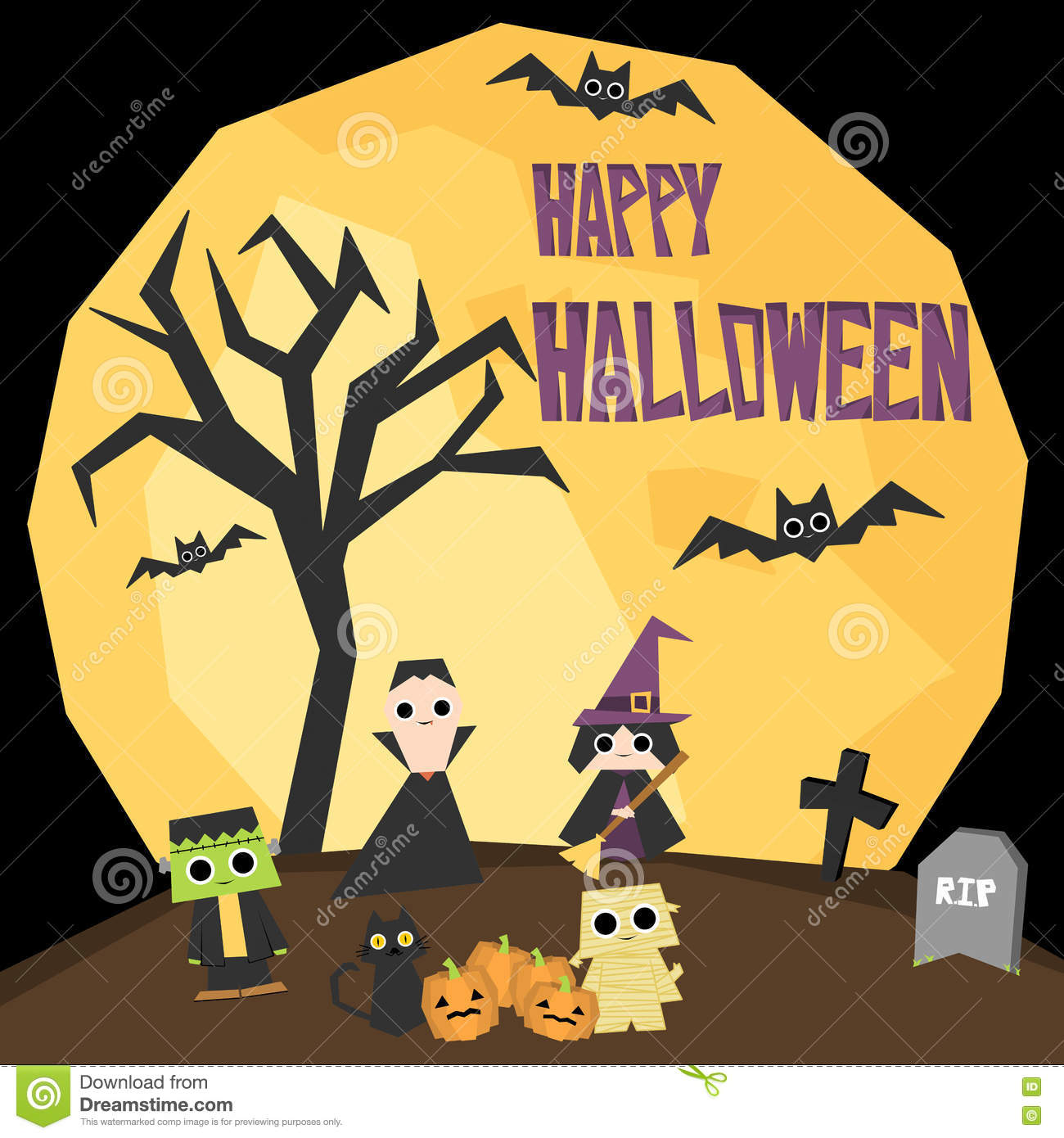 Halloween Wallpaper Stock Illustration Of Announcement