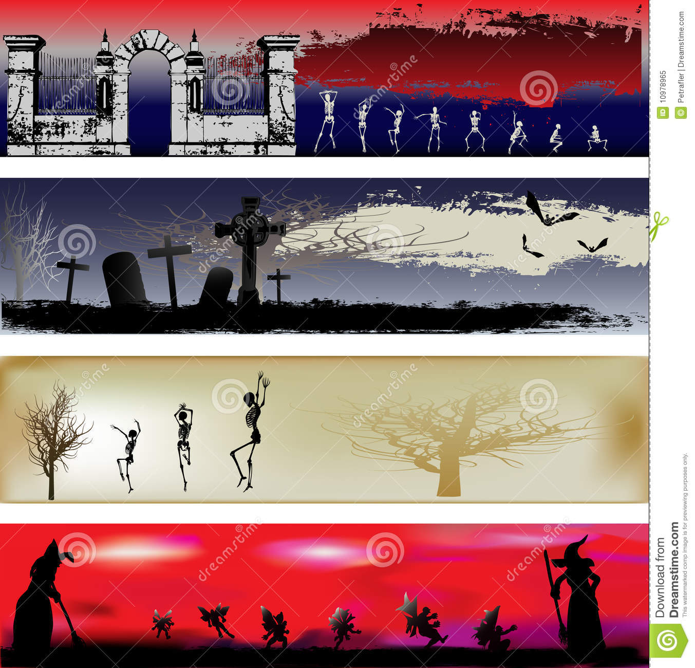 halloween web banner templates stock vector illustration of scary