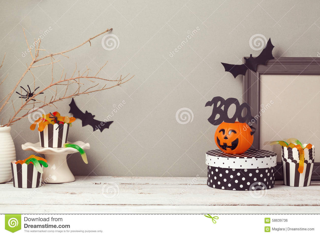 Halloween Website Header Design With Copy Space Stock Photo ...