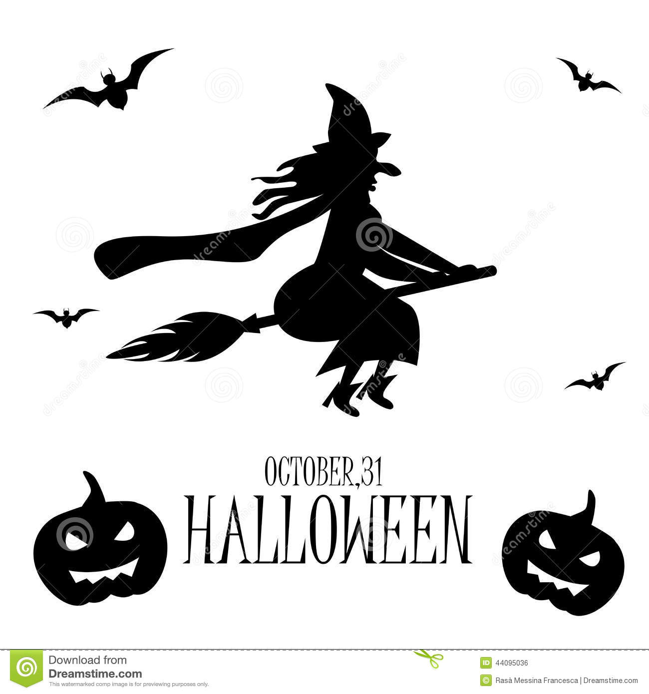 Halloween Witch Stock Vector  Illustration Of Witch  Party