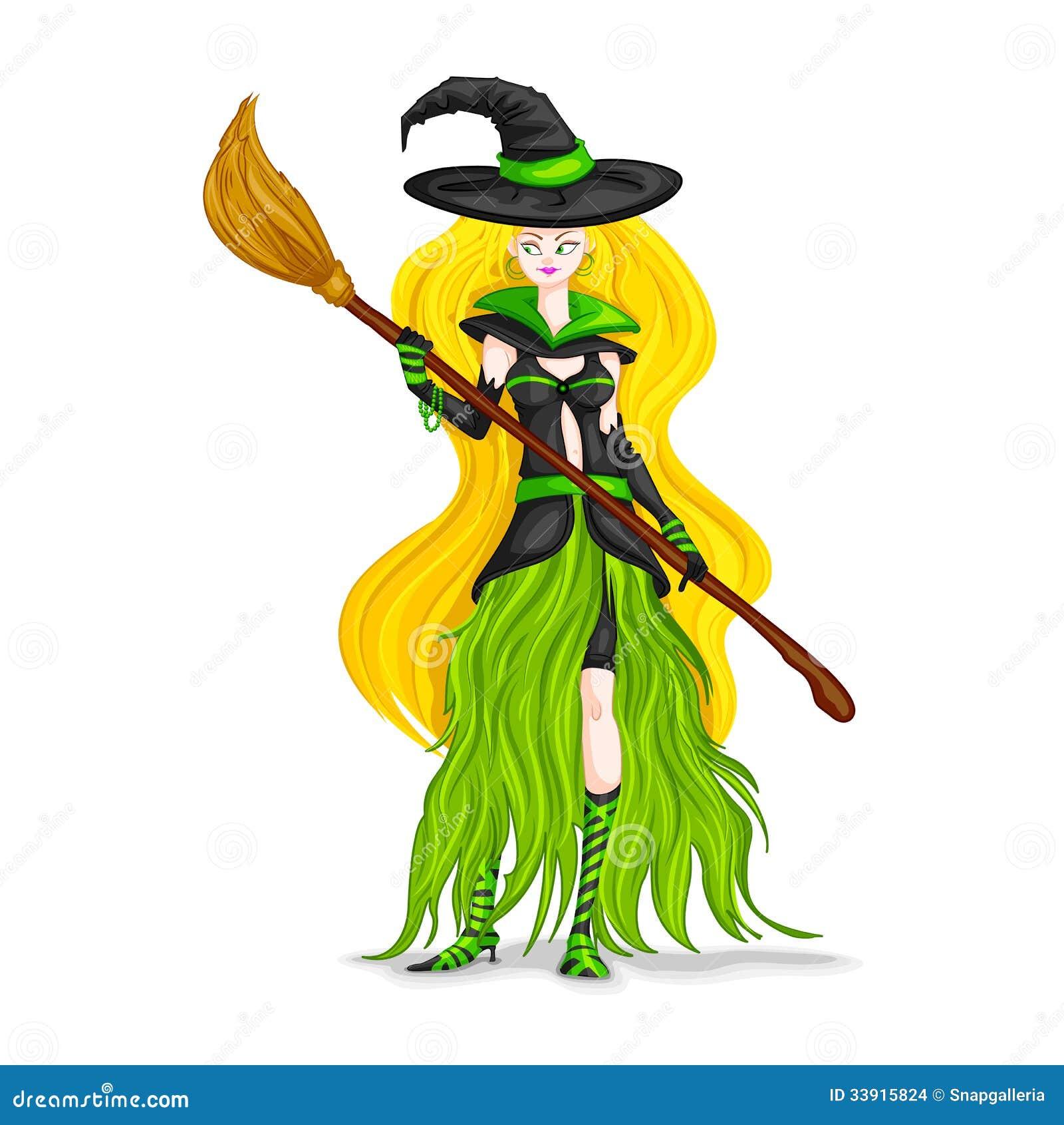 Halloween Witch Vector Illustration | CartoonDealer.com ...