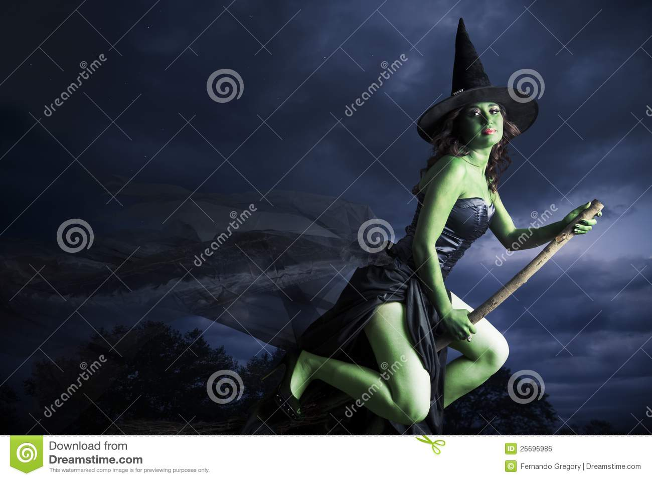 halloween witch flying on broomstick royalty free stock image - Halloween Which