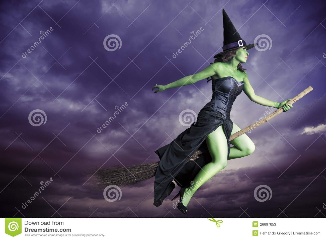 dark flying halloween witch - Flying Halloween Witch