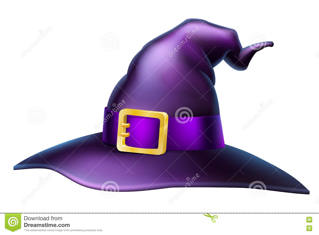 4046260e175 Halloween Witch Hat stock vector. Illustration of halloween - 76136710