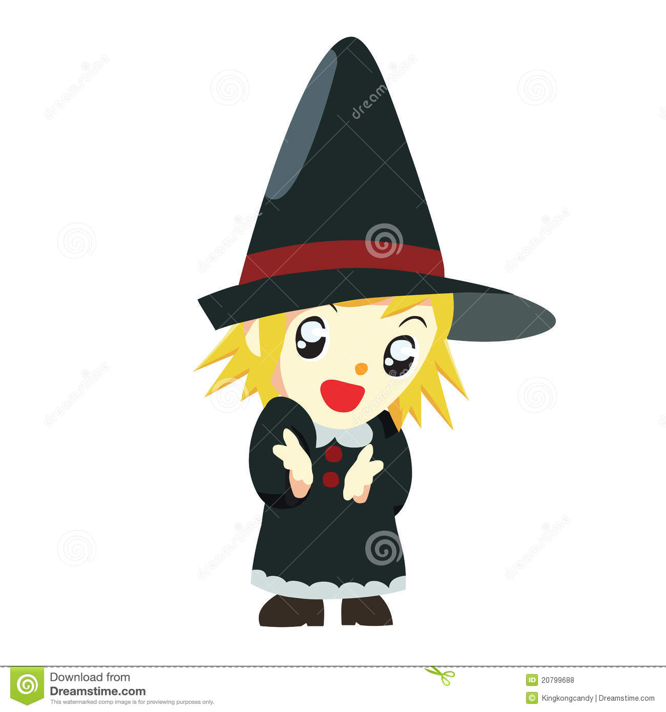 Halloween Witch Kid Royalty Free Stock Photos - Image: 20799688