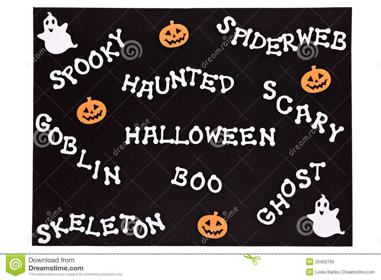 Halloween Words On A Black Mat Stock Photos  Image 334557 ~ 010317_Halloween Doormat With Sound