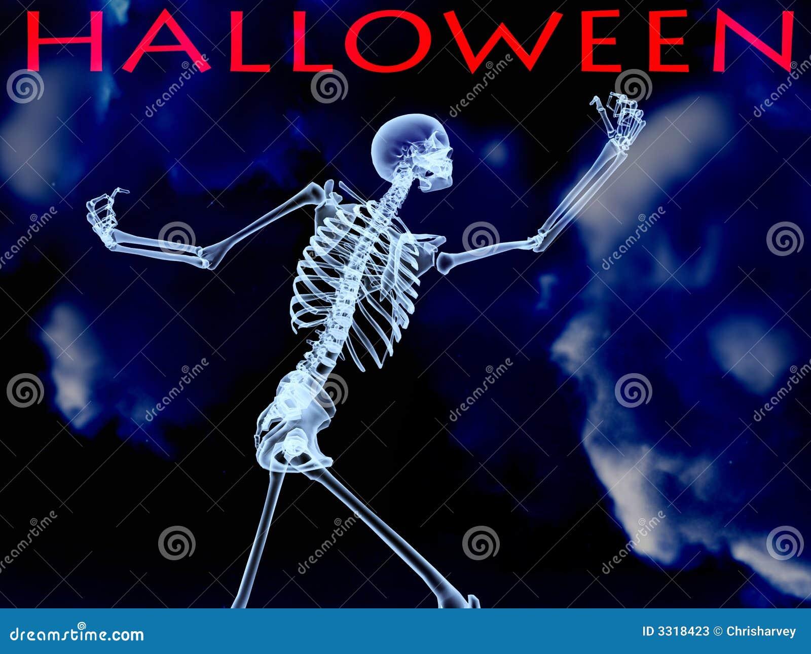 Halloween Xray Bone stock illustration. Illustration of